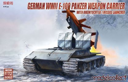 Picture of German WWII E-100 panzer weapon carrier with Rheintochter 1 missile launcher