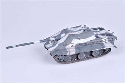 Picture of German WWII E-50 Jagdpanzer with 105mm gun ,Winter Camouflage ,1946